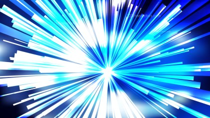 Abstract Blue and White Light Rays Background