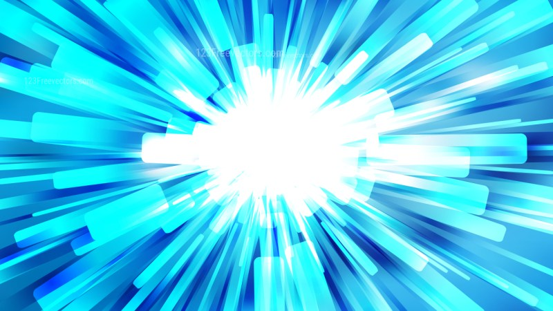 Abstract Blue and White Rays Background