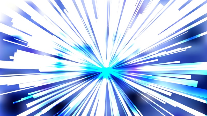 Abstract Blue and White Radial Lights Background Illustration