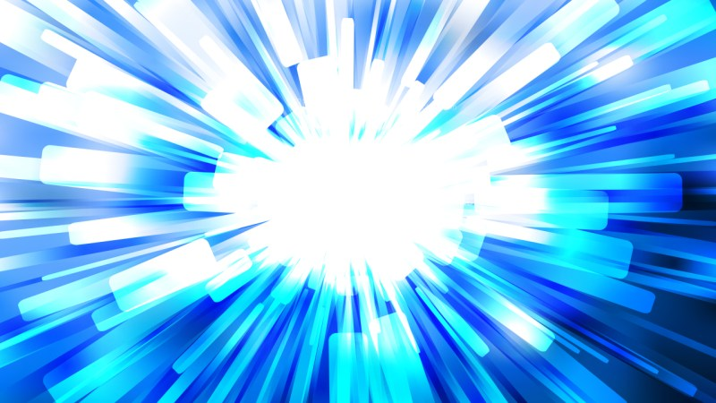 Abstract Blue and White Sunburst Background