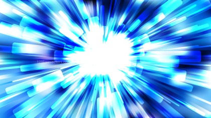 Abstract Blue and White Light Burst Background