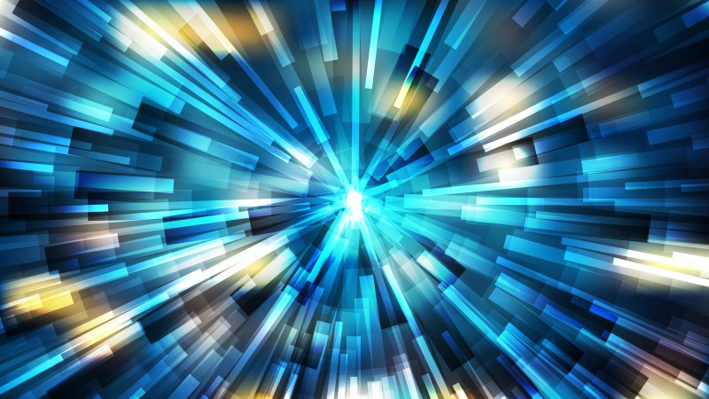 Abstract Blue and Yellow Rays Background Vector