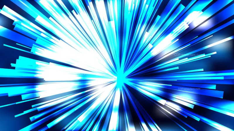 Abstract Blue Black and White Light Burst Background Vector Graphic