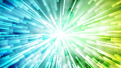 Abstract Blue Green and White Starburst Background Vector Graphic