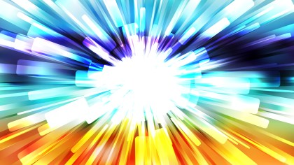 Abstract Blue Orange and White Rays Background Vector