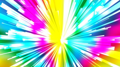 Abstract Colorful Radial Sunburst Background
