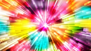 Abstract Colorful Sunburst Background