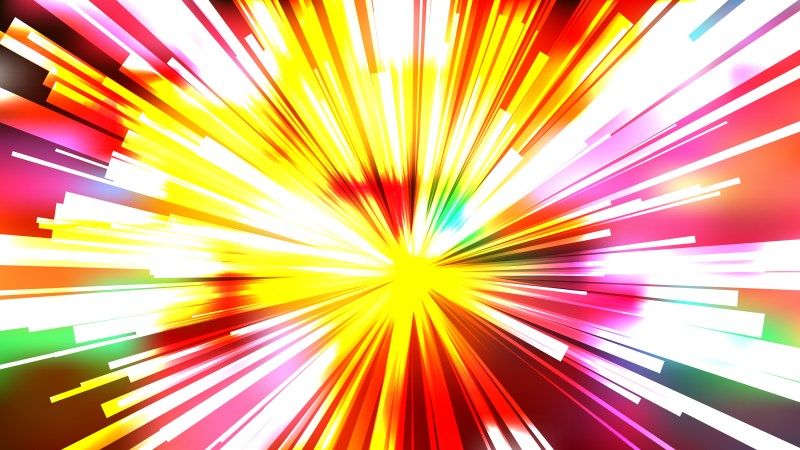 Abstract Colorful Radial Explosion Background
