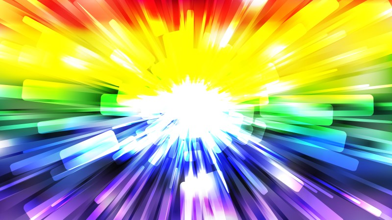 Abstract Colorful Burst Background Vector Image
