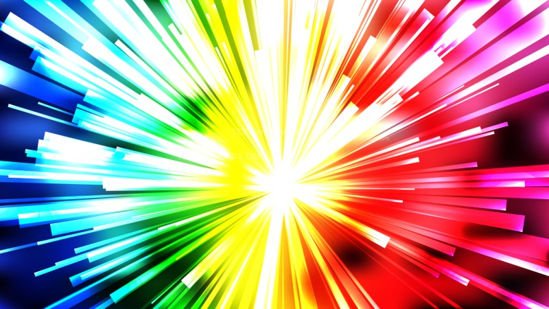 Abstract Colorful Light Rays Background
