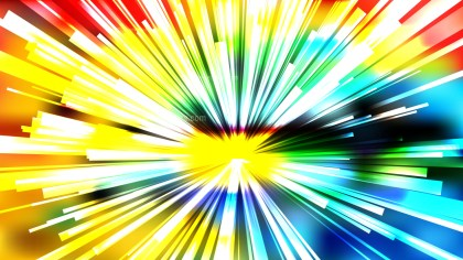 Abstract Colorful Starburst Background