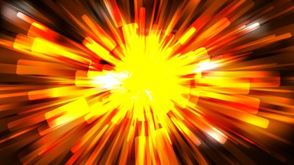 Abstract Cool Orange Light Burst Background Template