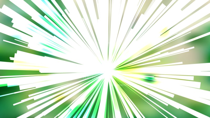 Abstract Green and White Light Burst Background