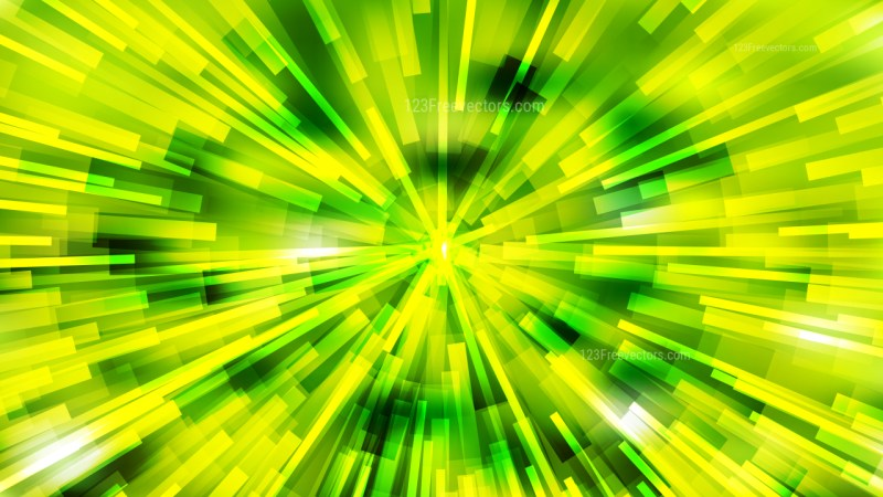 Abstract Green and Yellow Light Burst Background