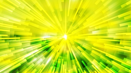 Abstract Green and Yellow Radial Background