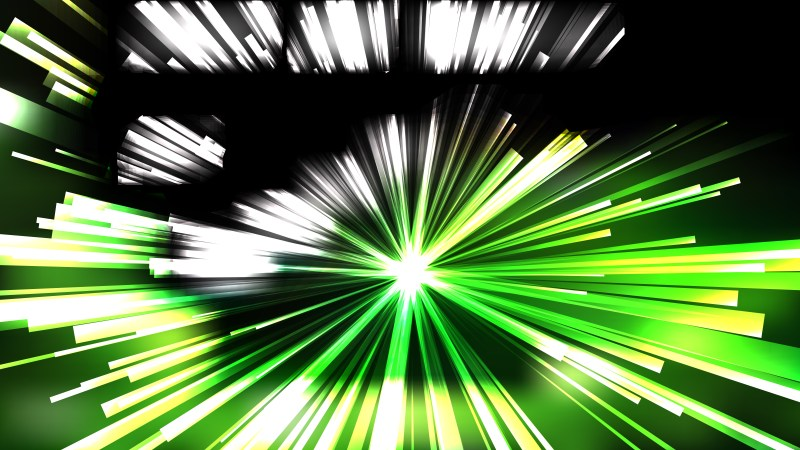 Abstract Green Black and White Radial Stripes Background Design
