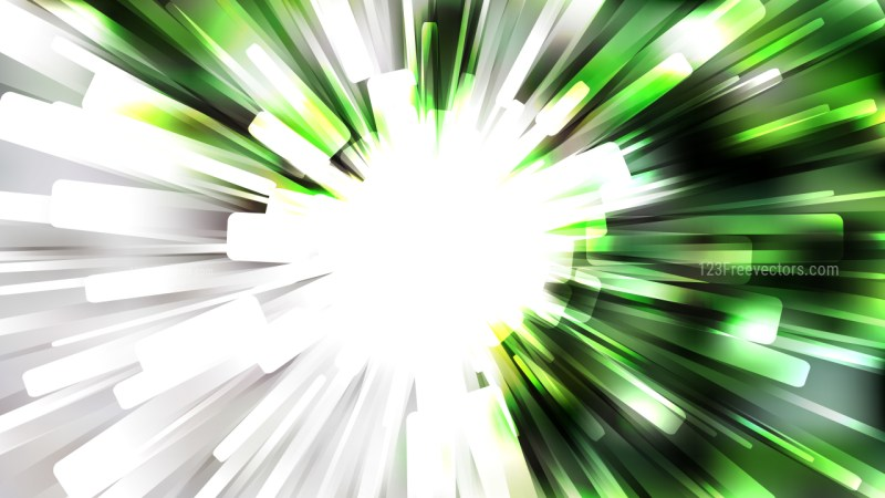 Abstract Green Black and White Light Burst Background Vector