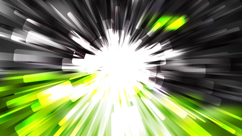 Abstract Green Black and White Radial Sunburst Background Graphic