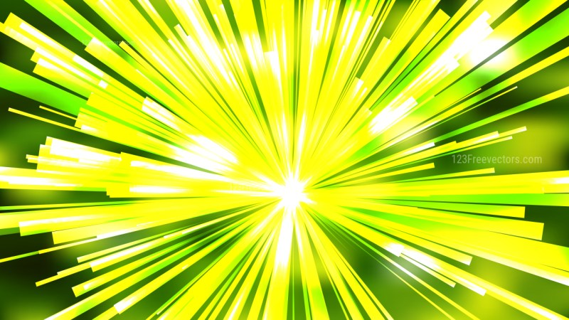 Abstract Green Yellow and White Radial Background Illustration