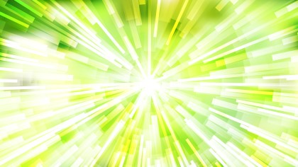 Abstract Green Yellow and White Radial Sunburst Background