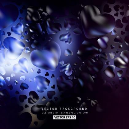 Abstract Purple Black Love Heart Background
