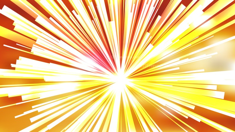 Abstract Orange and White Light Rays Background Illustration