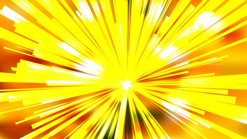Abstract Orange and Yellow Radial Explosion Background Illustration