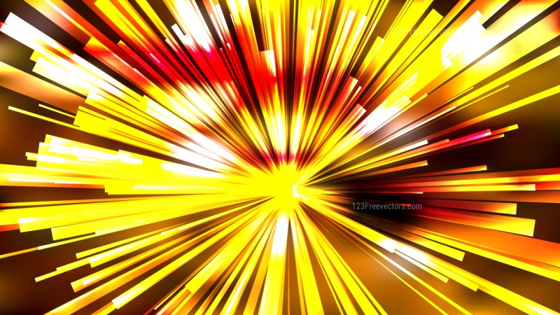 Abstract Orange and Yellow Radial Stripes Background Template