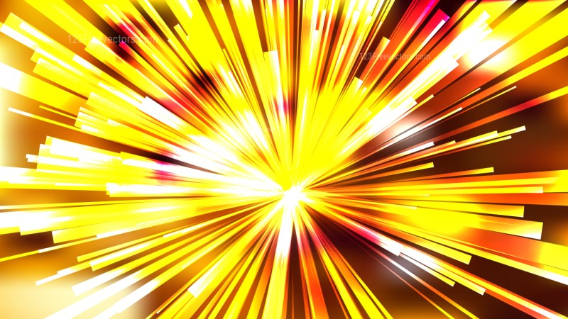 Abstract Orange and Yellow Starburst Background