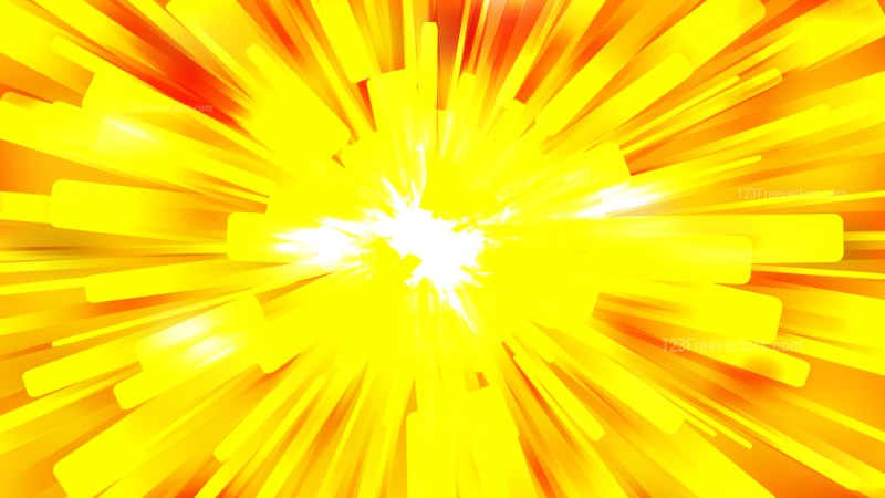 Abstract Orange and Yellow Radial Explosion Background