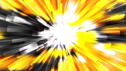 Abstract Orange Black and White Light Rays Background Vector Illustration