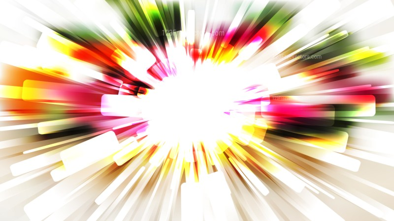 Abstract Pink Green and White Radial Background Vector Image