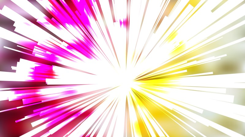 Abstract Pink Yellow and White Radial Sunburst Background Illustrator