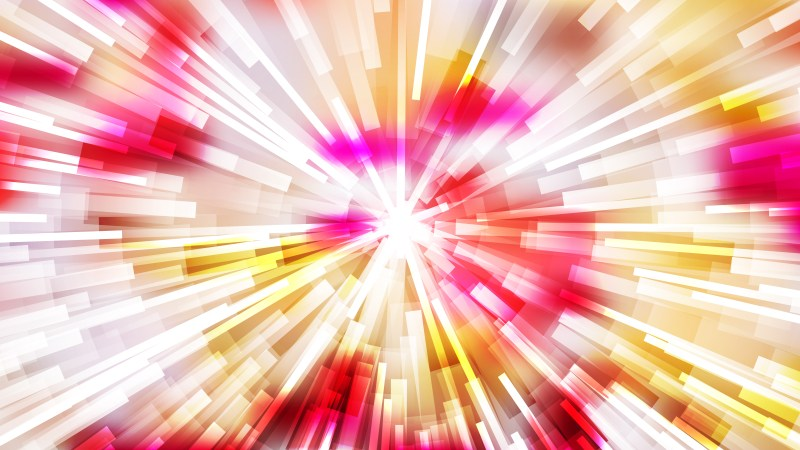 Abstract Pink Yellow and White Starburst Background Vector
