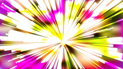Abstract Pink Yellow and White Starburst Background Vector Graphic