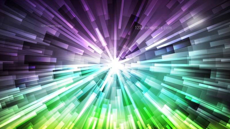 Abstract Purple and Green Sunburst Background Vector Art