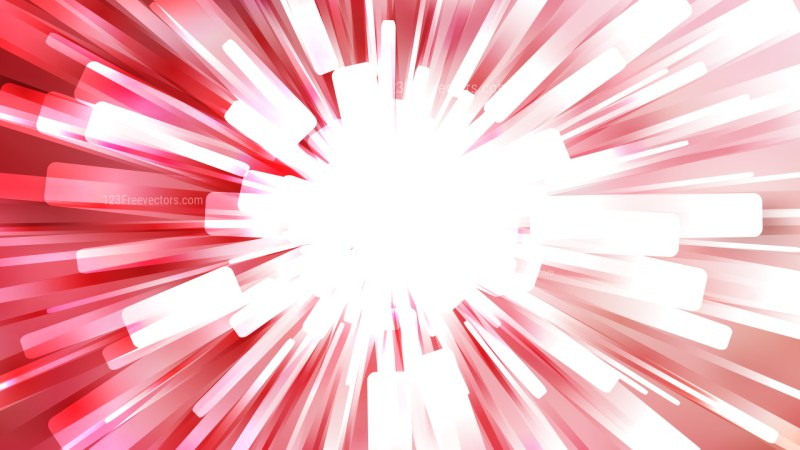 Abstract Red and White Starburst Background