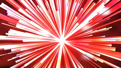 Abstract Red and White Radial Lights Background Vector Illustration
