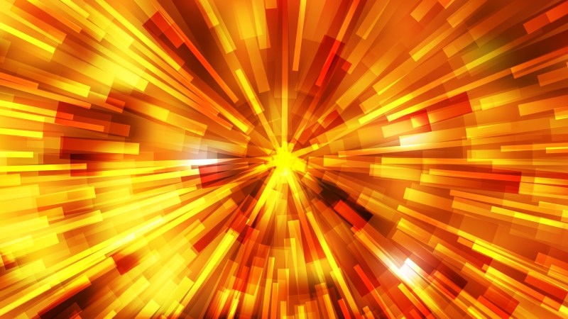 Abstract Red and Yellow Radial Sunburst Background Vector Graphic