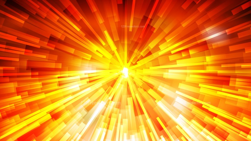 Abstract Red and Yellow Light Burst Background