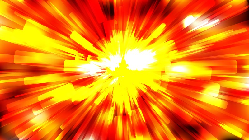 Abstract Red and Yellow Starburst Background