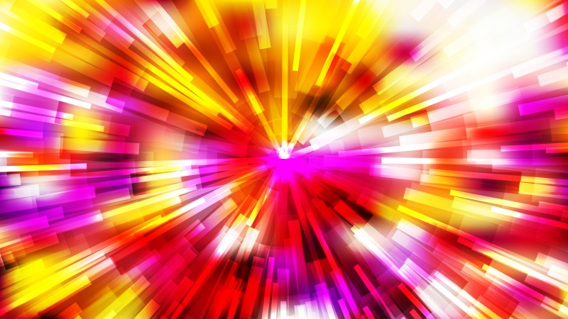 Abstract Red White and Yellow Radial Lights Background Vector Image