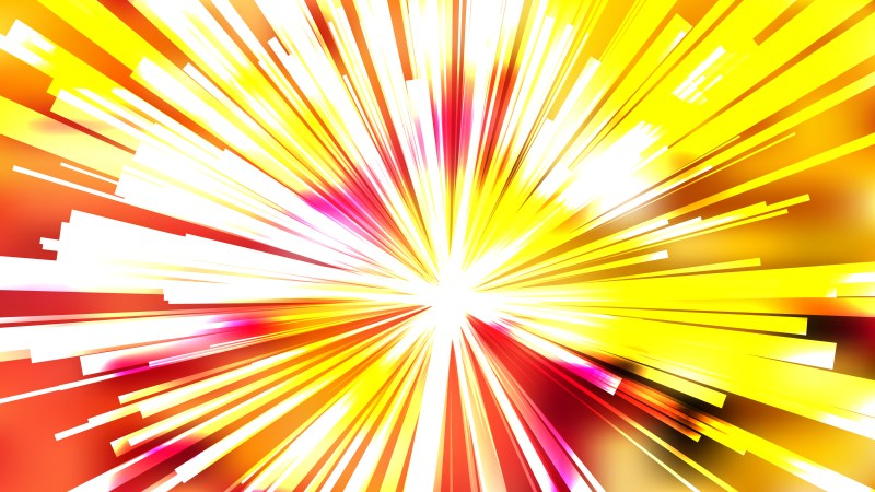 Abstract Red White and Yellow Light Rays Background Vector Illustration