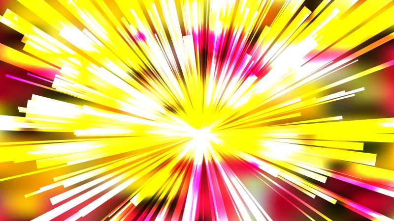 Abstract Red White and Yellow Starburst Background Graphic