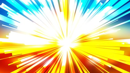 Abstract Red Yellow and Blue Radial Lights Background