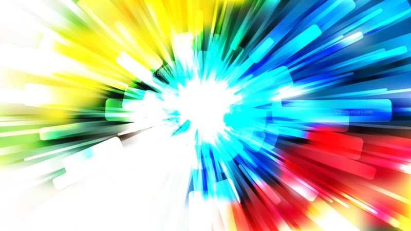 Abstract Red Yellow and Blue Sunburst Background