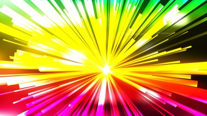 Abstract Red Yellow and Green Light Rays Background Vector Illustration
