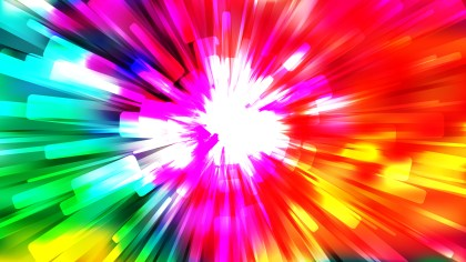 Abstract Red Yellow and Green Starburst Background