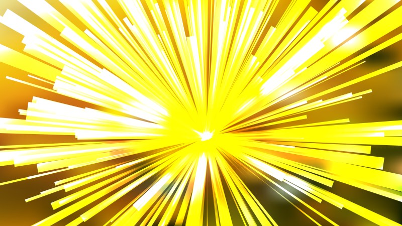 Abstract Yellow and White Radial Sunburst Background Template