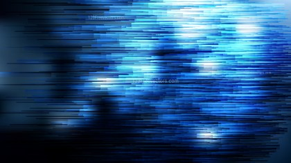 Abstract Black and Blue Horizontal Lines Background Vector Illustration